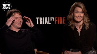 Trial by Fire Interview  Jack OConnell  Laura Dern on the Incredible True Story