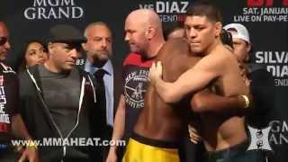 UFC 183 Silva vs Diaz Weighins and Staredowns LIVE 4pm PT  Unedited