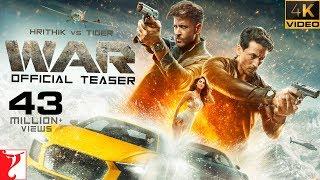 War Teaser  Hrithik Roshan  Tiger Shroff  Vaani Kapoor  4K UHD Teaser