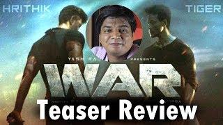 War teaser review by Saahil Chandel  Hrithik Roshan  Tiger Shroff  Vaani Kapoor