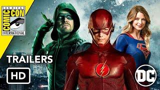 All DCTV ComicCon 2019 Trailers HD Flash Arrow Supergirl Harley Quinn Batwoman