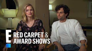 Penn Badgley Elizabeth Lail  Shay Mitchell Talk New Series You  E Red Carpet  Award Shows