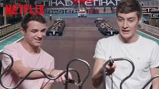 F1 Drivers Go HeadToHead In The Intense Buzzwire Challenge  Formula 1 Drive To Survive  Netflix