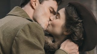 Tolkien  Kiss Scene Nicholas Hoult and Lily Collins