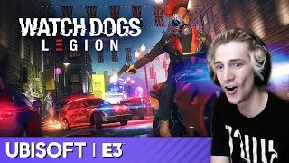 xQc Reacts to E3 2019  Ubisoft Watch Dogs Legion  Rob McElhenneys Mythic Quest