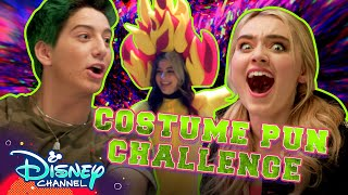 Costume Puns Challenge with Meg and Milo   ZOMBIES 2  Disney Channel