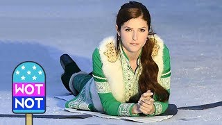 Anna Kendrick Slips on Ice Filming Christmas Comedy Noelle 2019