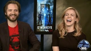 HILARIOUS  12 MONKEYS  SEASON 2  INTERVIEW  AMANDA SCHULL  AARON STANFORD  MONKEYWED GAME