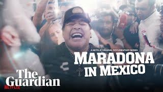 Maradona in Mexico watch a trailer for the new Netflix series