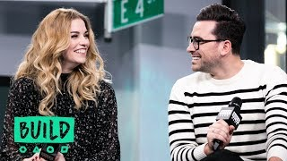 Eugene Levy Dan Levy Catherine OHara And Annie Murphy Discuss Their Show Schitts Creek