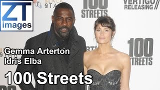 Gemma Arterton and Idris Elba at the film premiere 100 Streets in London UK