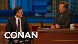 Stephen Colberts Late Night With Conan OBrien Rehearsal Memory   CONAN on TBS