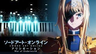 Sword Art Online Alicization  War of Underworld OP Resolution  Haruka Tomatsu Piano