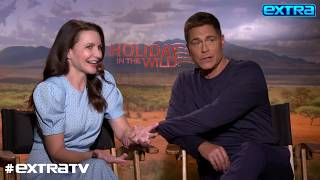 Rob Lowe on Working with His Son Reuniting with Kristin Davis in Holiday in the Wild