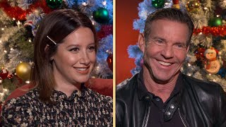 Ashley Tisdale Says Dennis Quaid Was Really Like Our Dad on Merry Happy Whatever Set Exclusi