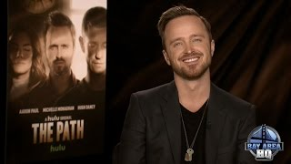 FUN AARON PAUL INTERVIEW On Sex Scenes The Path Better Call Saul Crying Whiskey  Minka Kelly