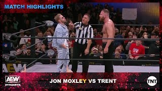 Moxley and Trent wage war in the AEW Ring as Orange Cassidy interferes