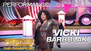 Vicki Barbolak Hilarious Comedian Brings Trailer Nasty To AGT  Americas Got Talent The Champions