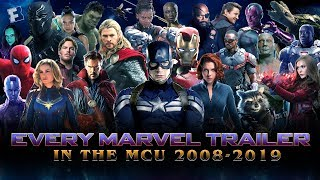 ALL Marvel Cinematic Universe Trailers  Iron Man 2008 to Avengers Endgame 2019