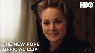 The New Pope Sharon Stone Pays a Visit Season 1 Episode 5 Clip  HBO