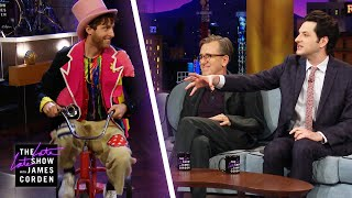 Thomas Middleditch On a Tricycle Interrupts Ben Schwartz