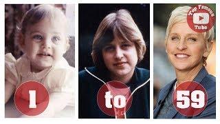 Ellen DeGeneres  From 1 To 59 Years Old  Ellen DeGeneres Then And Now