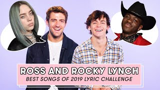 Rocky and Ross Lynch aka The Driver Era Try to Remember 2019s Top Song Lyrics  Lyric Challenge