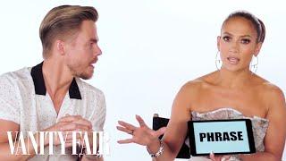 Jennifer Lopez Teaches You Dance Slang with Derek Hough and NeYo  Vanity Fair