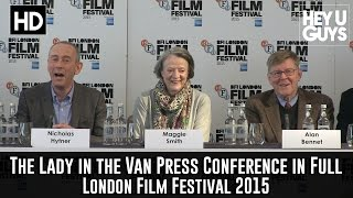 The Lady in the Van Press Conference in Full  Maggie Smith  Alan Bennett