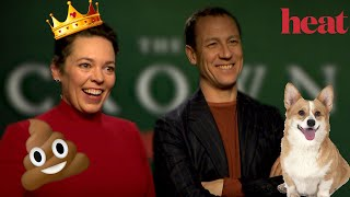 Shouldve had a poo Olivia Colman  Tobias Menzies talk The Crown and SO much more