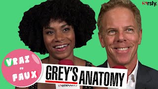 GREYS ANATOMY  Vrai ou Faux  avec Kelly McCreary et Greg Germann