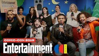Emergence Stars Allison Tolman Alexa Swinton  Cast LIVE  SDCC 2019  Entertainment Weekly