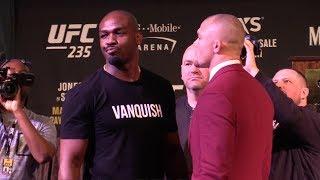 UFC 235 Face Offs Jon Jones vs Anthony Smith Woodley vs Usman